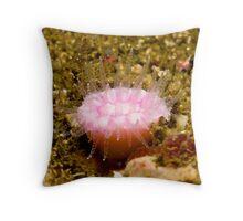 Pink Jewel Anemone Throw Pillow