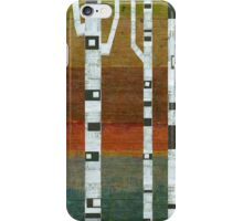 Birches with Blue and Orange iPhone Case/Skin