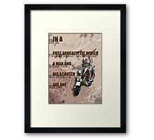 Scooter Nightrider Poster Framed Print