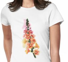 beautiful illustration of Hand Painted flower Wild  Womens Fitted T-Shirt