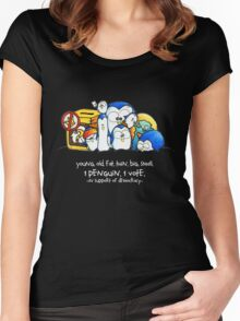 Penguination - 1 Penguin 1 Vote Women's Fitted Scoop T-Shirt