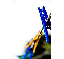 Pegged In Colour Photographic Print