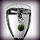 Grape in a glass by mikebov