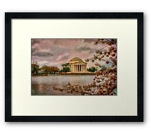 Dawn Over The Jefferson Memorial Framed Print