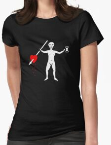 John Quelch Pirate Flag Womens Fitted T-Shirt