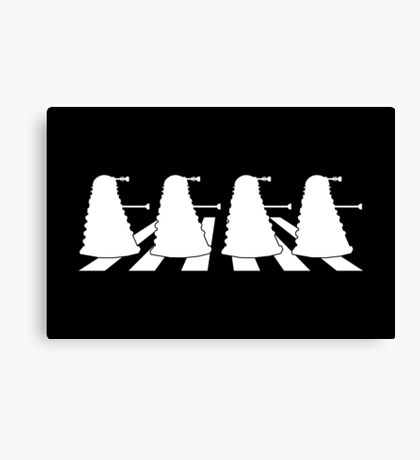 Exterminate Abbey Road Canvas Print
