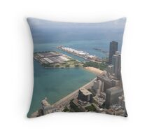 Navy Pier/sky view Throw Pillow