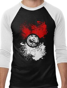 Poke Splat Men's Baseball ¾ T-Shirt