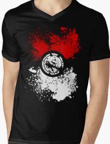Poke Splat Mens V-Neck T-Shirt