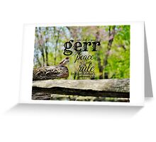 Gerr ruler Greeting Card