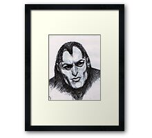 Gothic Man Sketch Framed Print