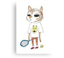 Tennis Cat. Canvas Print