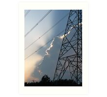 The atmosphere is electric! Art Print