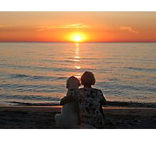 Happiness is enjoying the sunset together Photographic Print
