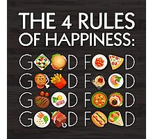 Food Happiness Photographic Print