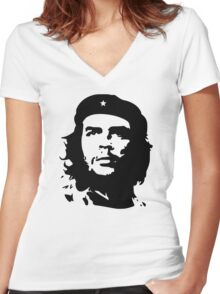 Banksy Print Che Guevara Women's Fitted V-Neck T-Shirt