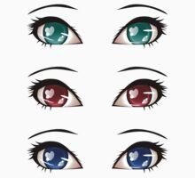 Stylized eyes 8 One Piece - Short Sleeve