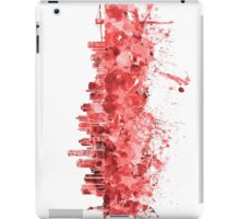 New York skyline in red watercolor on white background iPad Case/Skin
