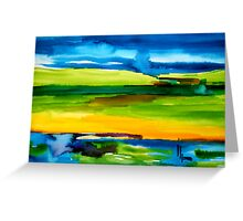 earth & sky Greeting Card