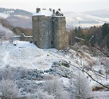 Neidpath Castle Near Peebles Scotland by DonDavisUK