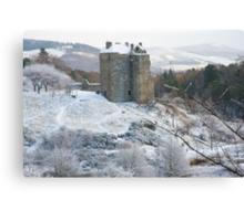 Neidpath Castle Near Peebles Scotland Canvas Print