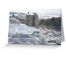 Neidpath Castle Near Peebles Scotland Greeting Card