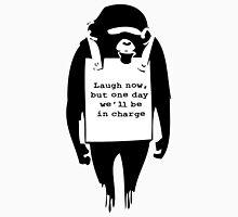 Banksy Print Monkey Laugh Now Chimp  Unisex T-Shirt