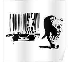 Banksy Print Tiger Barcode Poster