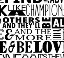 Random Funky Words Sticker