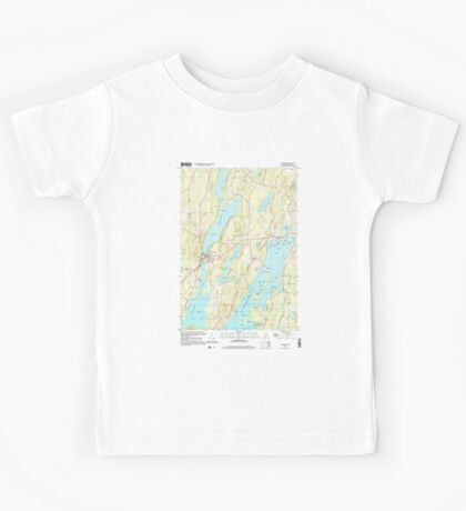 Maine USGS Historical Map Winthrop 103119 2000 24000 Kids Tee
