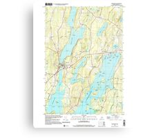 Maine USGS Historical Map Winthrop 103119 2000 24000 Canvas Print