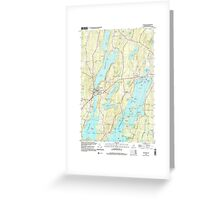 Maine USGS Historical Map Winthrop 103119 2000 24000 Greeting Card