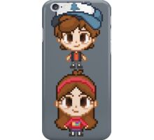 Mystery Twins Pixels iPhone Case/Skin