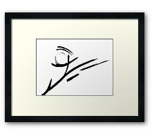 Calligraphy Art, Abstract Black and White Painting  Framed Print