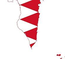 Bahrain Flag Map by abbeyz71