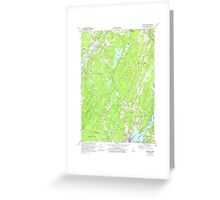 Maine USGS Historical Map Wiscasset 103120 1970 24000 Greeting Card