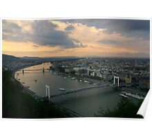Early Evening over Budapest Poster