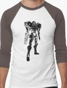 Samus Stencil Men's Baseball ¾ T-Shirt