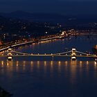 Night-Lit Chain Bridge, Budapest by Duncan Payne