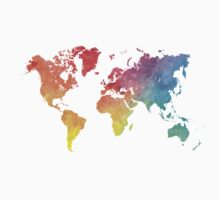Map of the world colored Kids Clothes