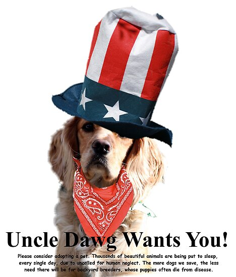 Uncle Dawg Wants You! by Polly Peacock