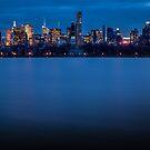Midtown Manhattan at Night by Johannes Valkama