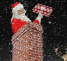 Santa in the chimney by happyphotos