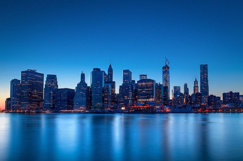 Lower Manhattan at Dusk by Johannes Valkama