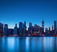 Lower Manhattan at Dusk by Johannes Valkama