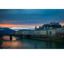 Sunrise in Salzburg Photographic Print