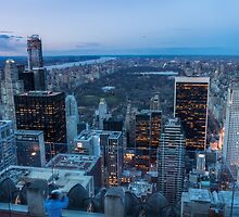 Central Park from Top of the Rock by Johannes Valkama