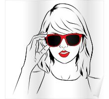 Sunglass Swift- RED Poster