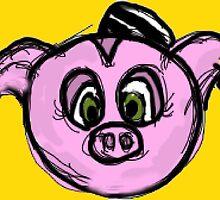 Piggie Penny Pincher by mbozugrace