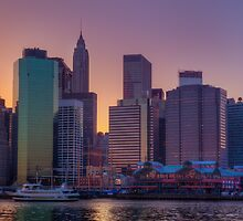 South Street Seaport Sunset by Johannes Valkama